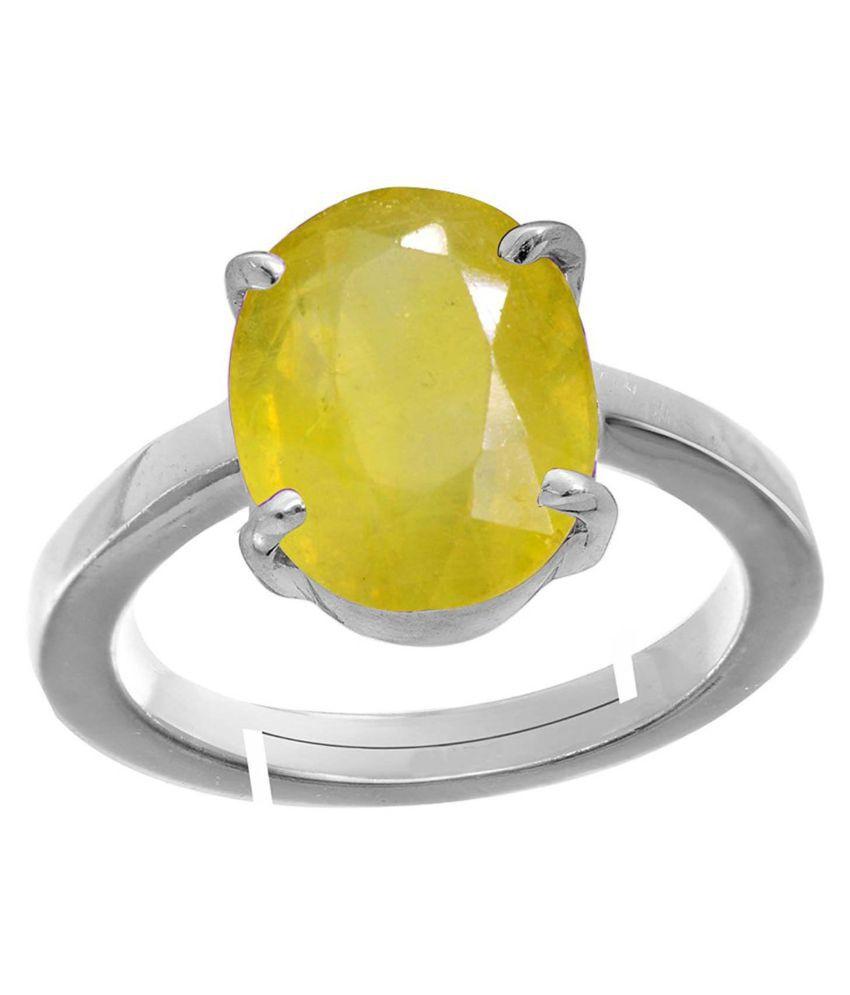 AKSHAY GEMS 92.5 Silver Sapphire Ring