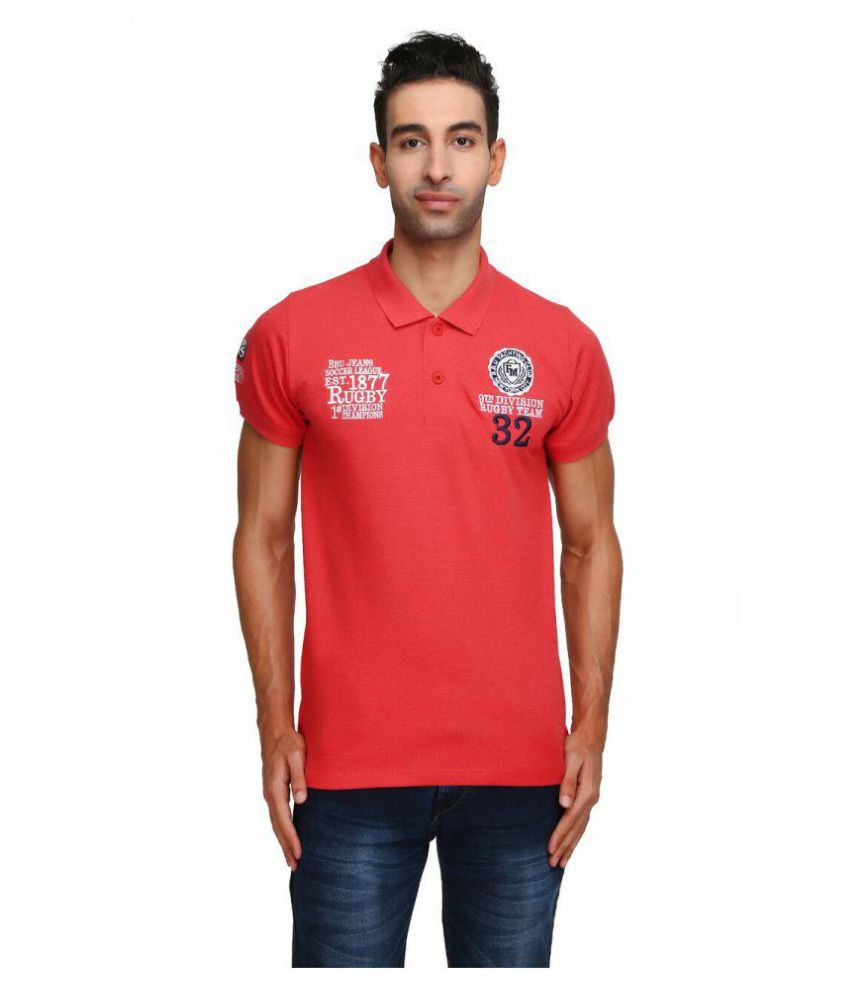 Be-Beu Red High Neck T-Shirt