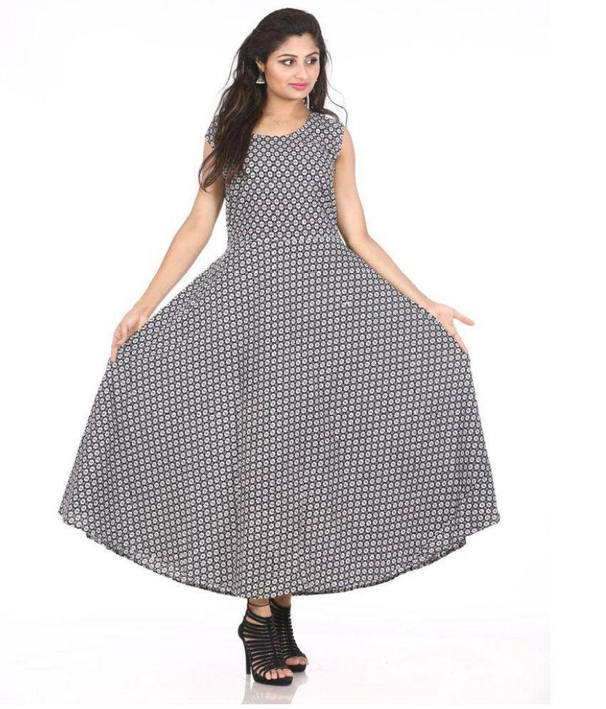 Dhruvi Cotton Black Dresses
