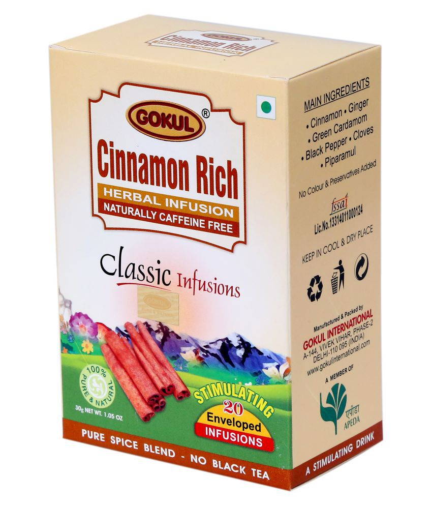 Gokul Cinnamon Rich Tea Bags 30 Gm Pack Of 3