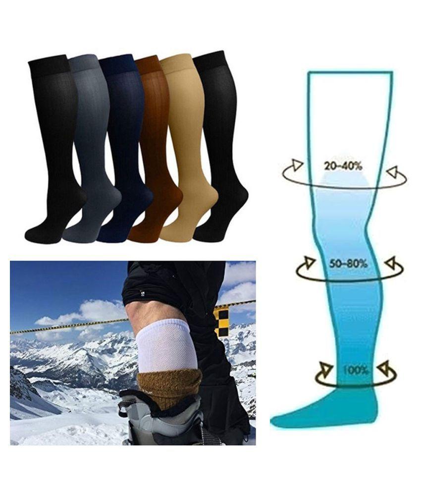 Women Men Compression Stockings Pressure Nylon Varicose Vein Stocking Travel Leg Relief Pain Support New