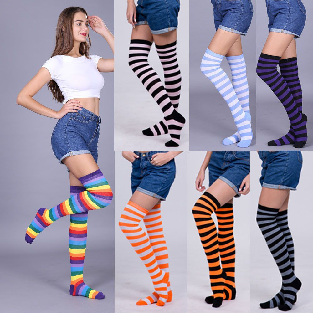 Women Sexy Thigh High Over The Knee Socks Long Stockings Trendy Gifts