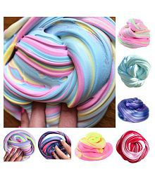 1 PCS Popular Rainbow Stress Relief Kids Sludge Toy (Random Colour)
