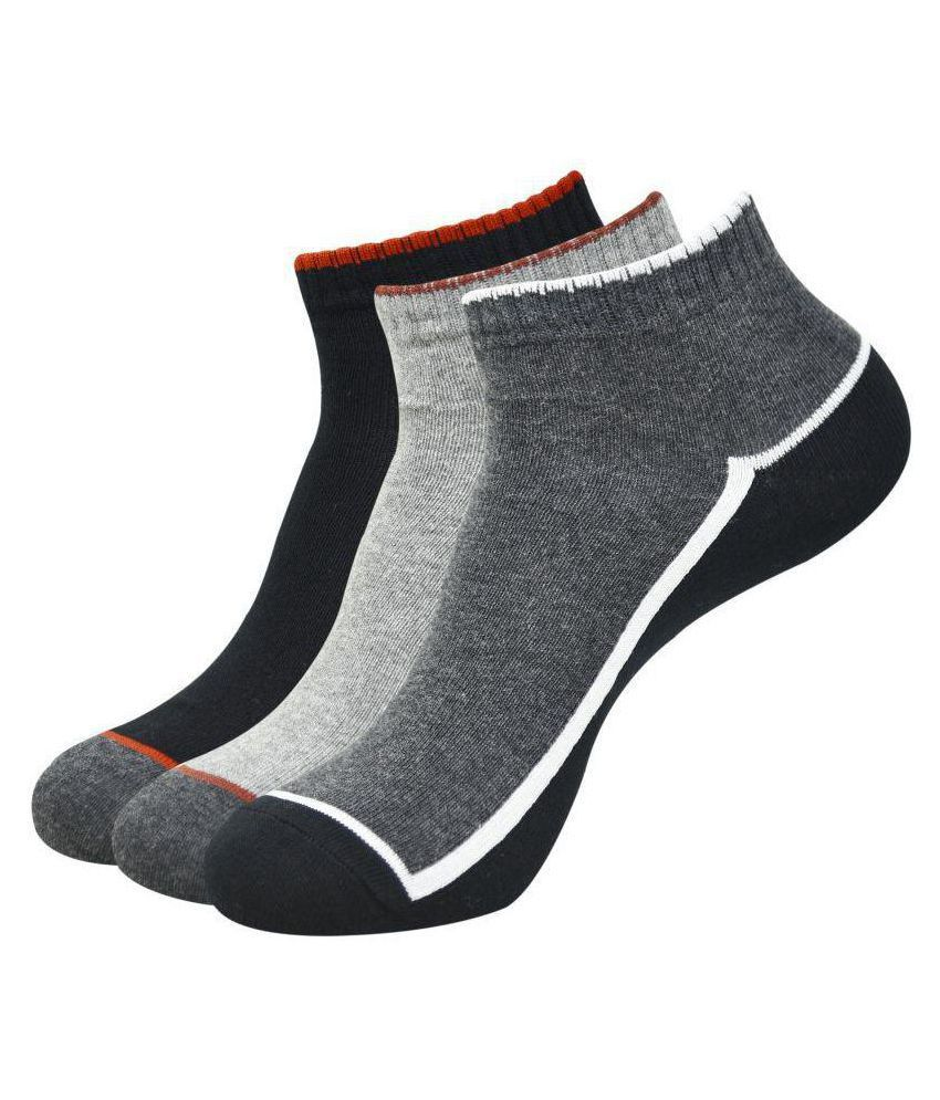 Balenzia Multi Formal Ankle Length Socks Pack of 3