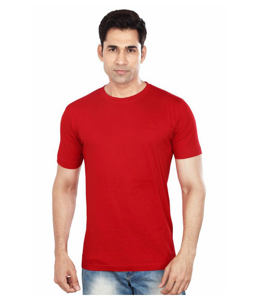 Dudlind Red Round T-Shirt Pack of 1