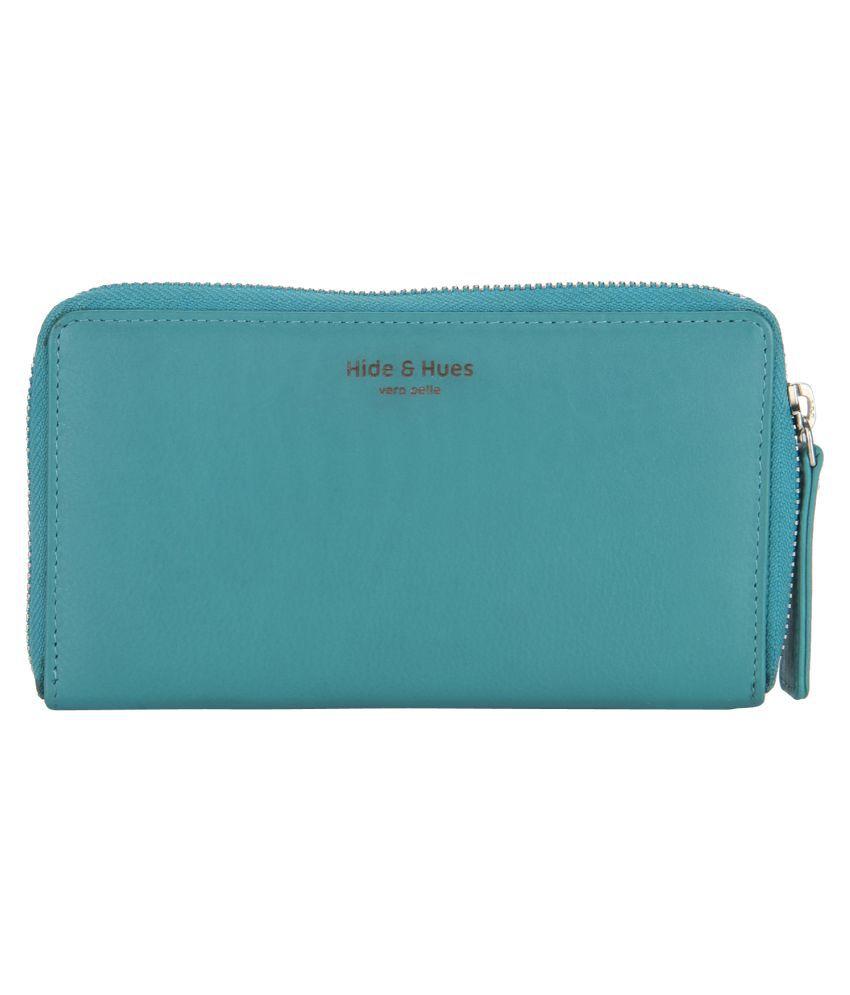 Hide & Hues Blue Wallet