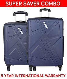 Safari Traffik Anti Scratch Combo Set of 2 Purple Small, Medium Hard Branded Luggage Trolley Bag