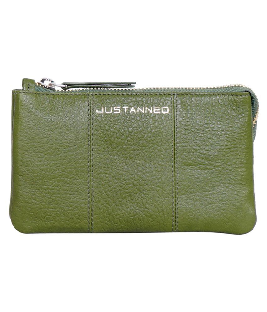 JUSTANNED Green Wallet