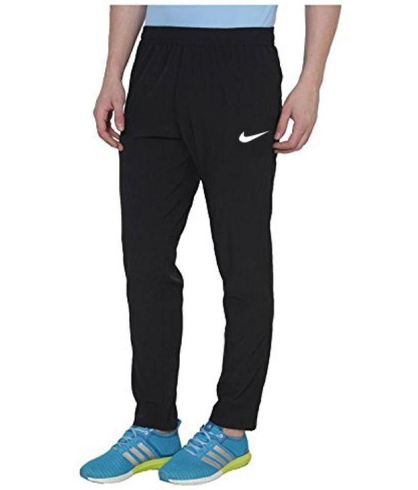 87c52716cd2f Nike Black Polyester Lycra Trackpants