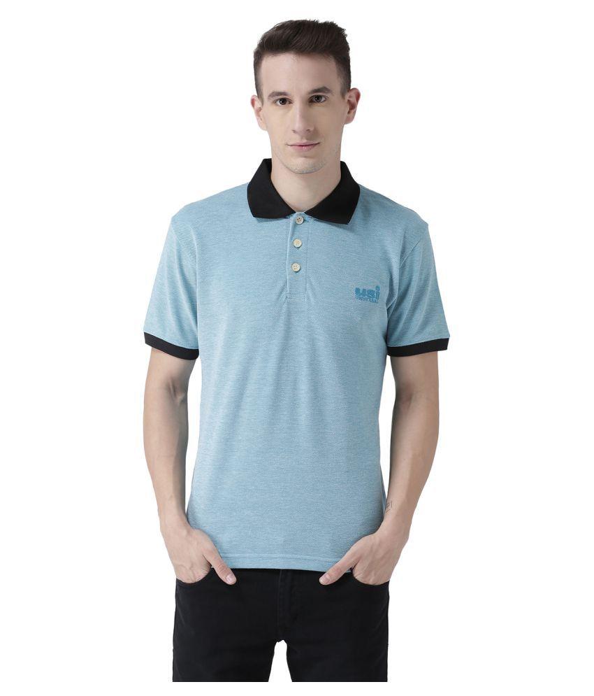 USI UNIVERSAL Aqua Coloured Mens T-Shirt