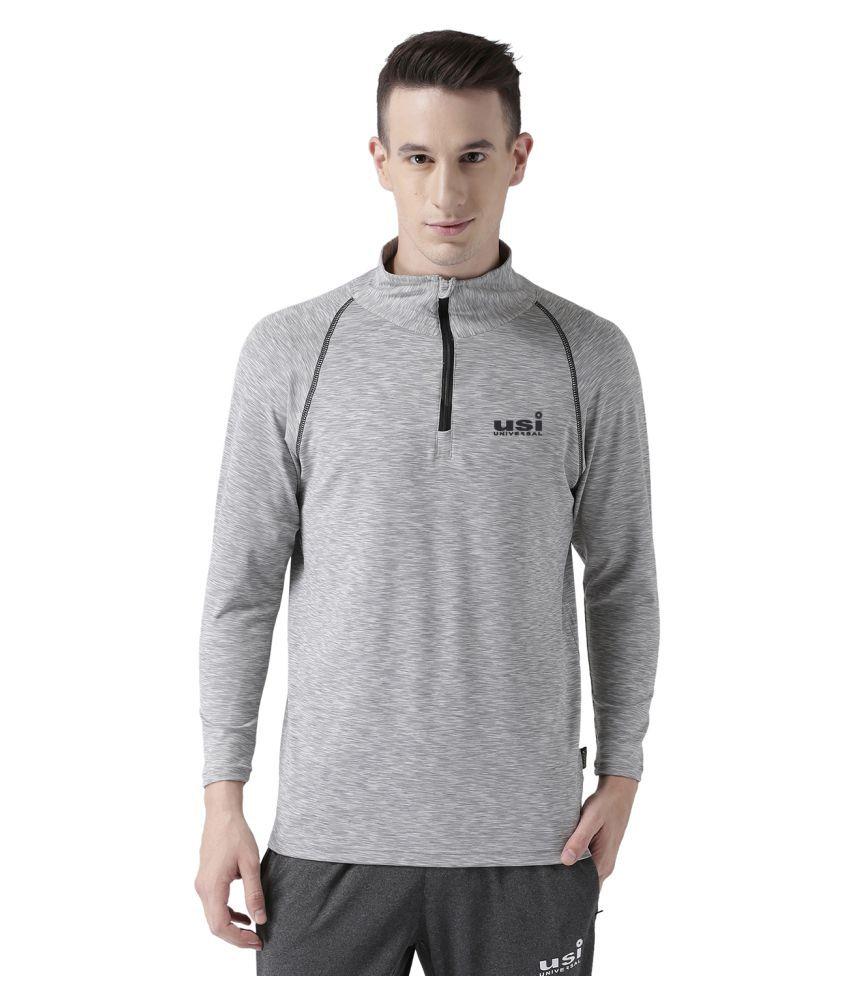 USI UNIVERSAL Grey Coloured Mens T-Shirt