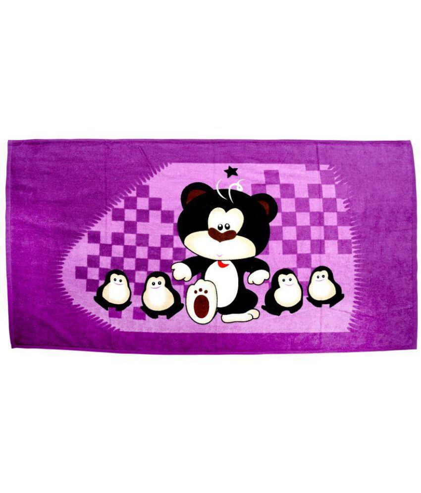 BcH Purple Cotton Bath Towels 1 Pc