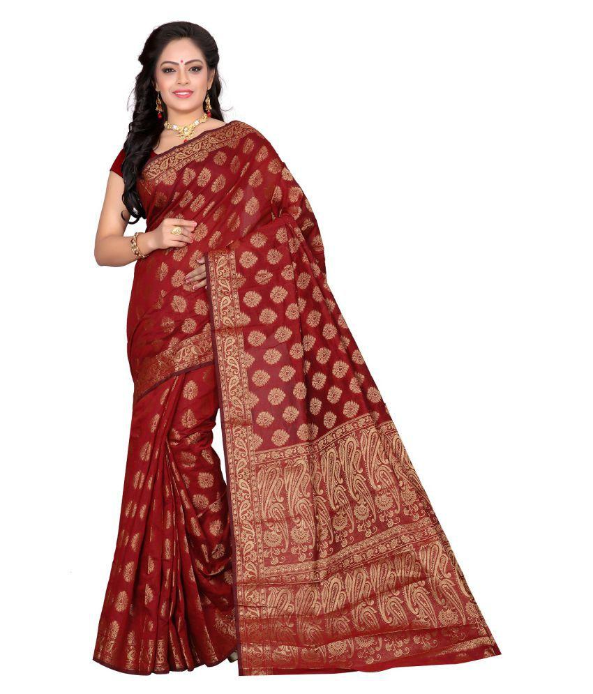 Aika Maroon Banarasi Silk Saree