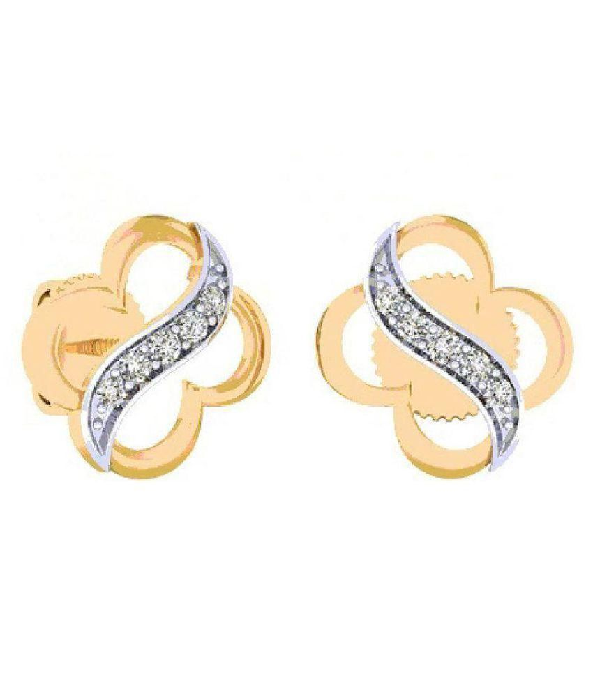 Amantran Gems And Jewels 14k Yellow Gold Pearl Studs