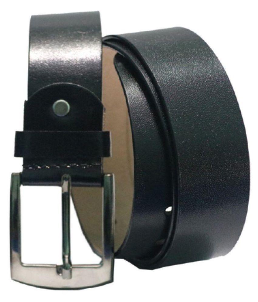 ARIZIC Black Leather Formal Belt