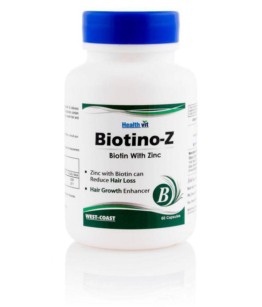 HealthVit Biotino-Z Biotin with Zinc Capsule 60 no.s