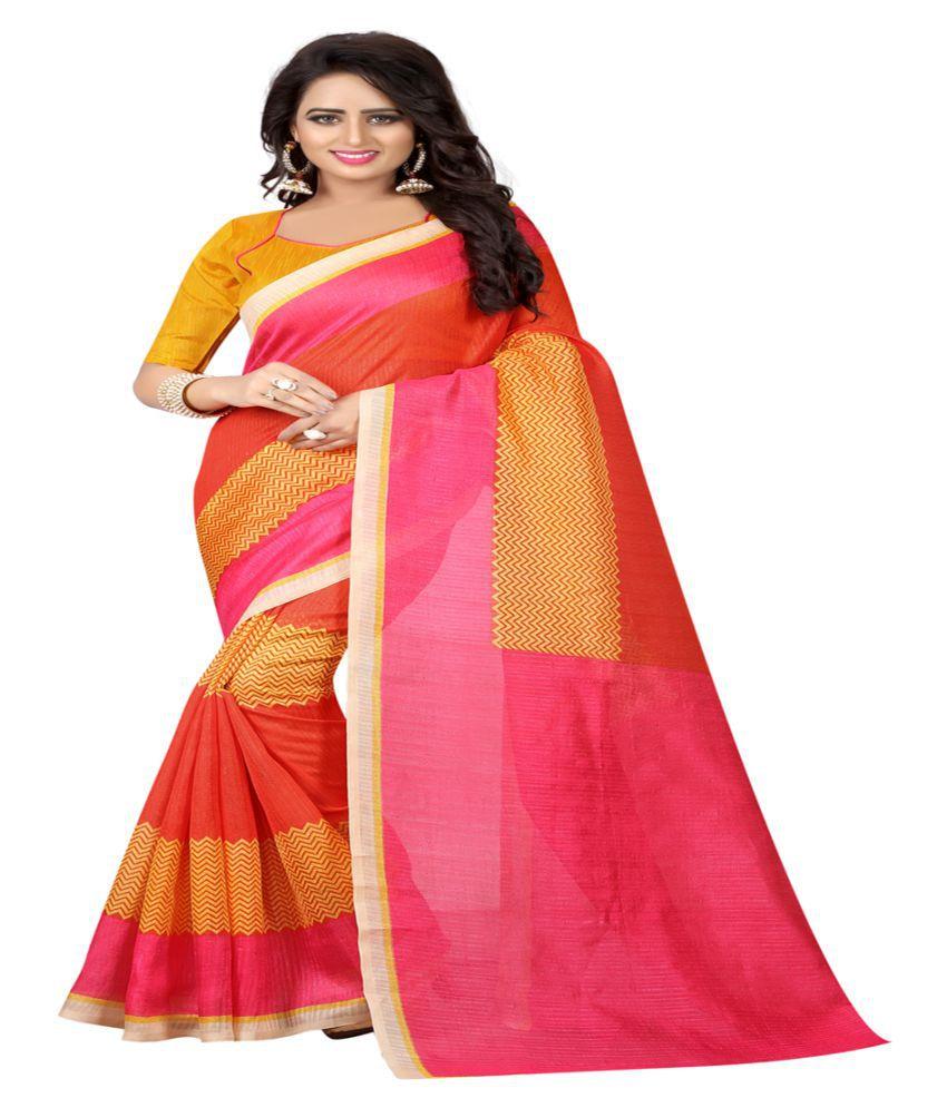 Radiance star Multicoloured Tussar Silk Saree