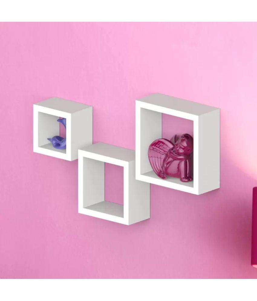 Onlineshoppee Floating Shelf/ Wall Shelf / Storage Shelf/ Decoration Shelf White - Pack of 3