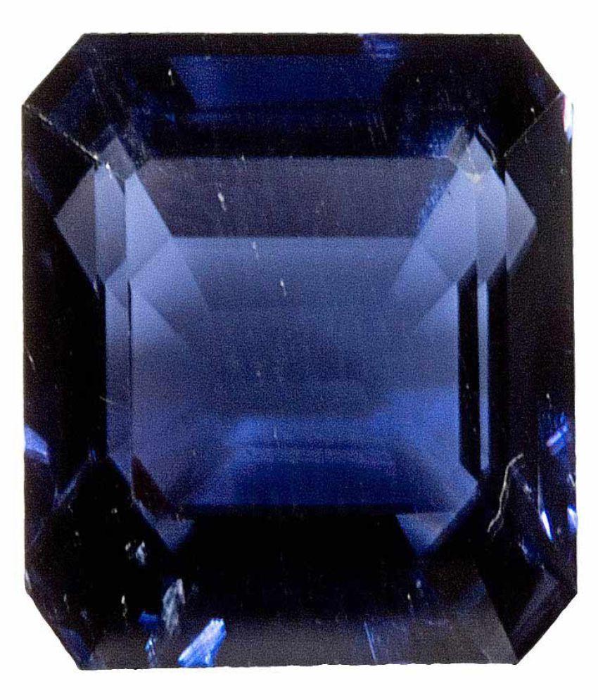 Tejvij And Sons 4.25 -Ratti Self certified Blue Iolite Semi-precious Gemstone