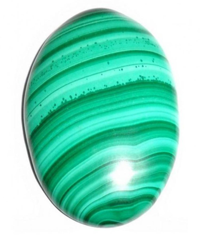Tejvij And Sons 5.25 -Ratti Self certified Green Malachite Semi-precious Gemstone