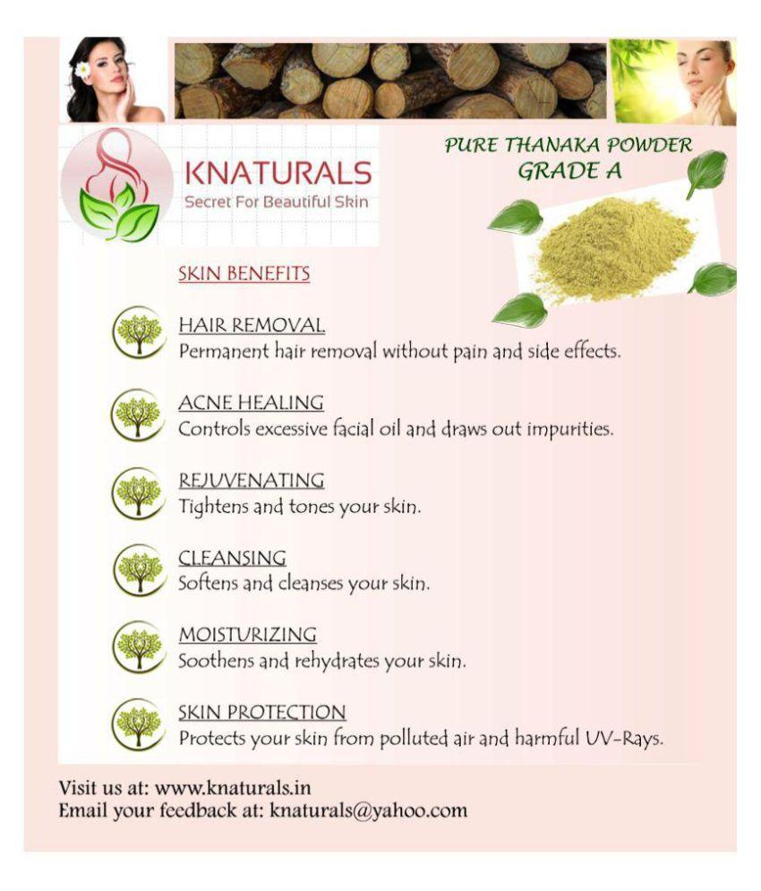 Knaturals Grade A Hair Removal Powder Thanaka Powder 50 Gm Buy