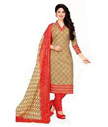 DRAPES Multicoloured Cotton Dress Material