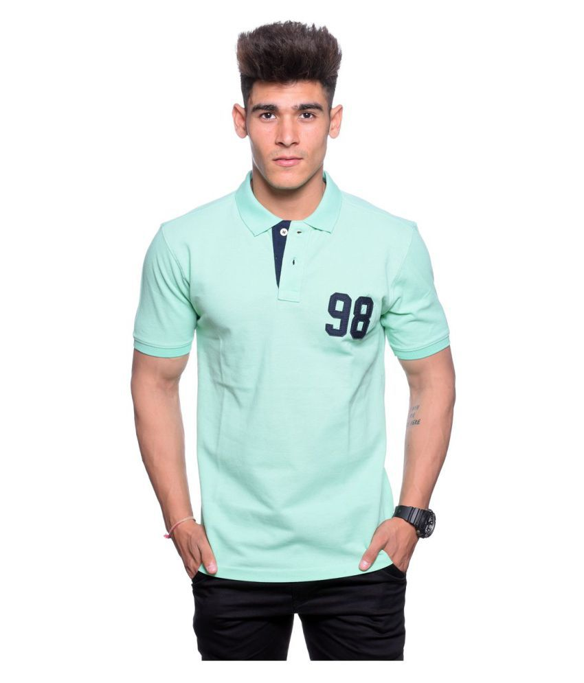 Hunkmart Green High Neck T-Shirt