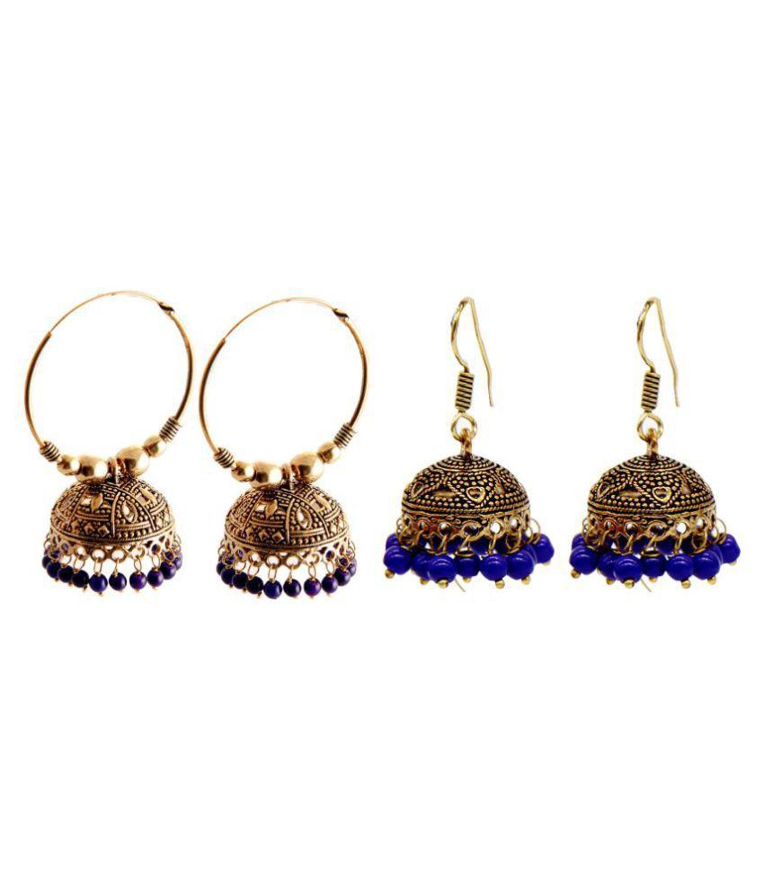 Malifionna Fashionable Earring Combo -MFER039-MER233BL