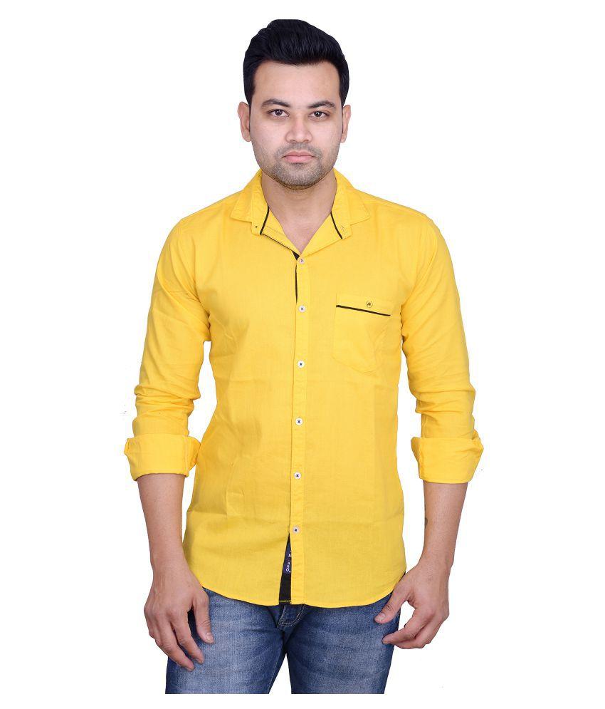 La Milano Gold Casual Slim Fit Shirt