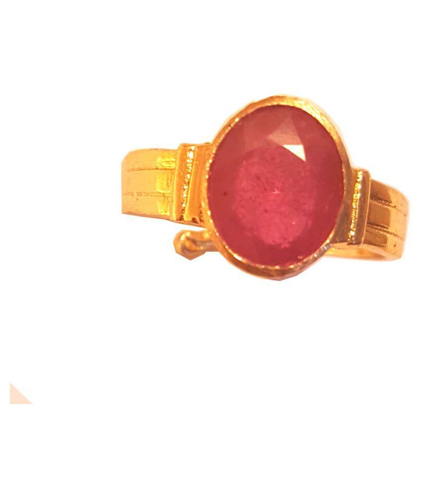 RS JEWELLERS Panch Dhatu Panch Dhatu Ruby Ring