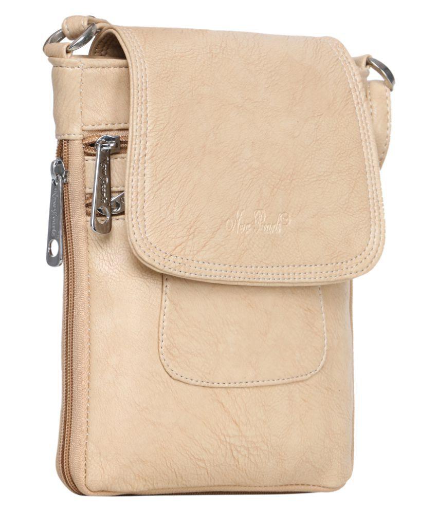 Margaux Beige Artificial Leather Sling Bag