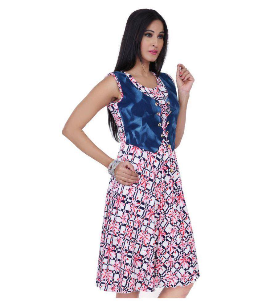 Queenrose Cotton A- line Dress