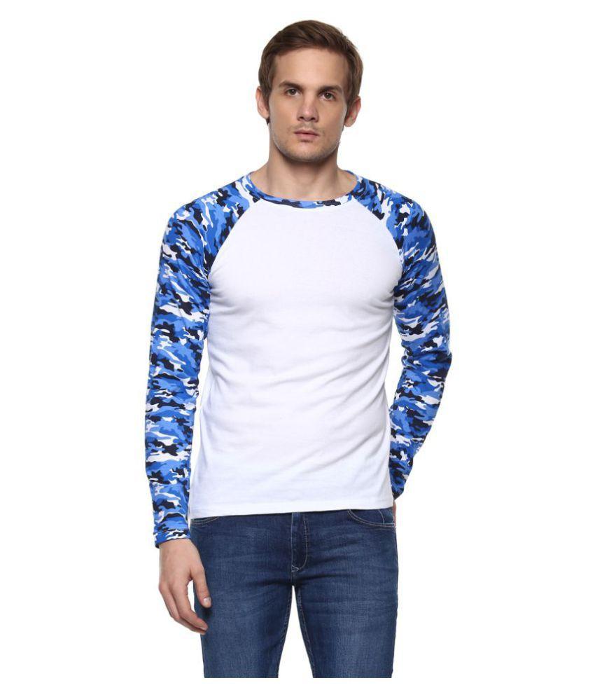 Urbano Fashion Blue Round T-Shirt