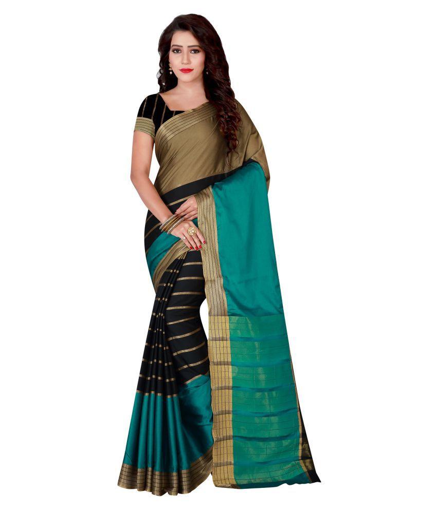 Aanzia Multicoloured Art Silk Saree