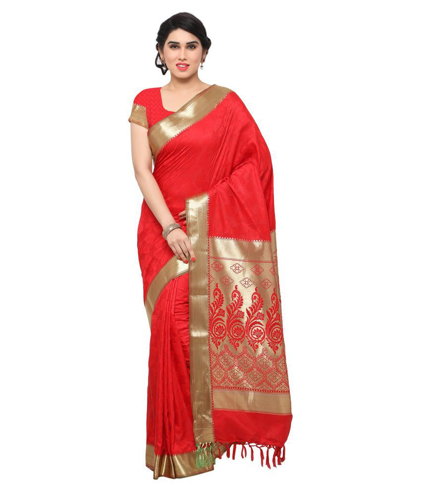Florence Red Art Silk Saree