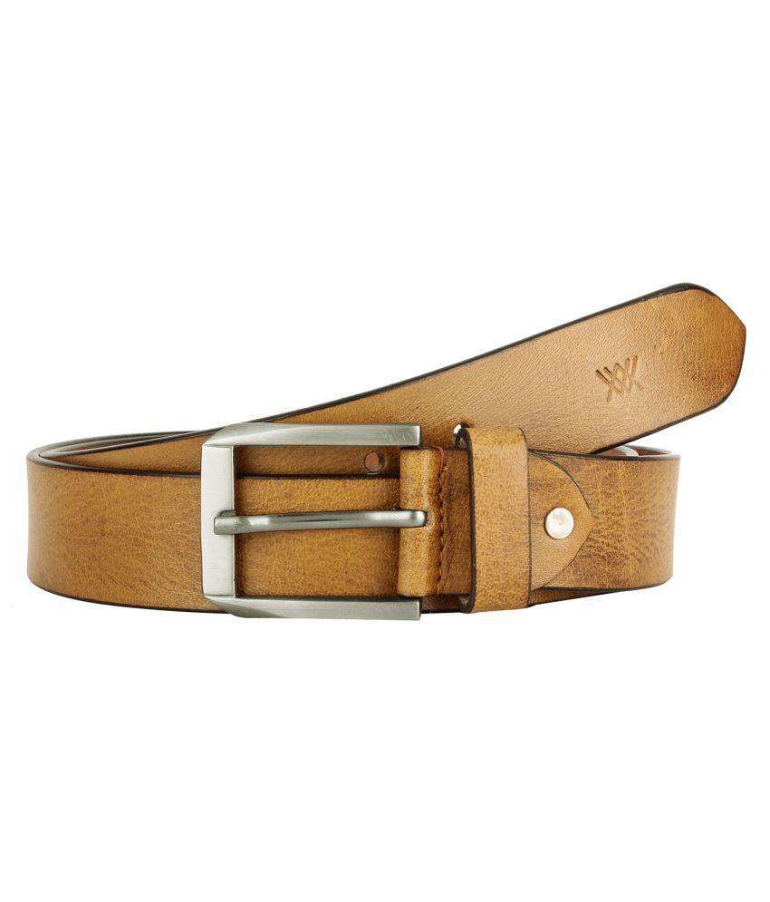 Aditi Wasan Yellow Leather Casual Belts