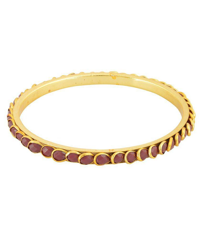 Fashion For Sure Gold Brass Bangle Set for Women - Set of 4 (Size: 2.6, B80)…