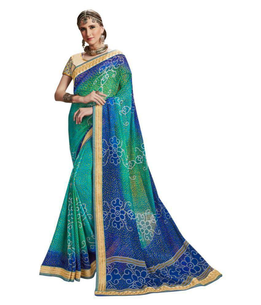Adityadarshan Creation Multicoloured Georgette Saree