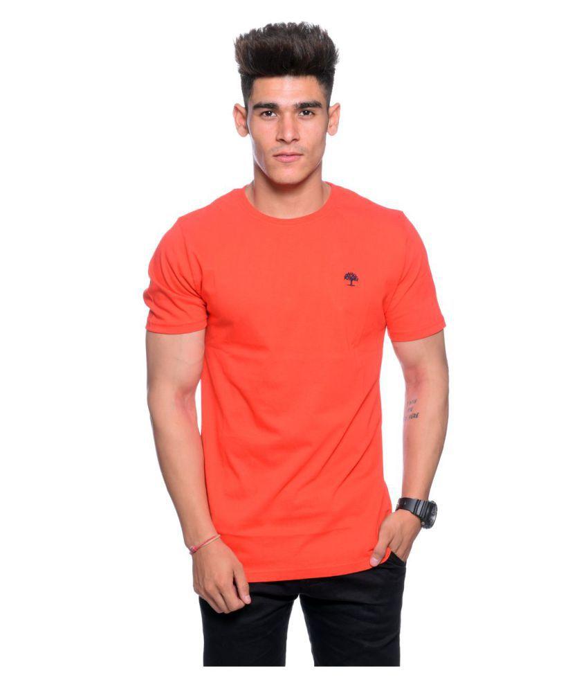 Hunkmart Orange Round T-Shirt
