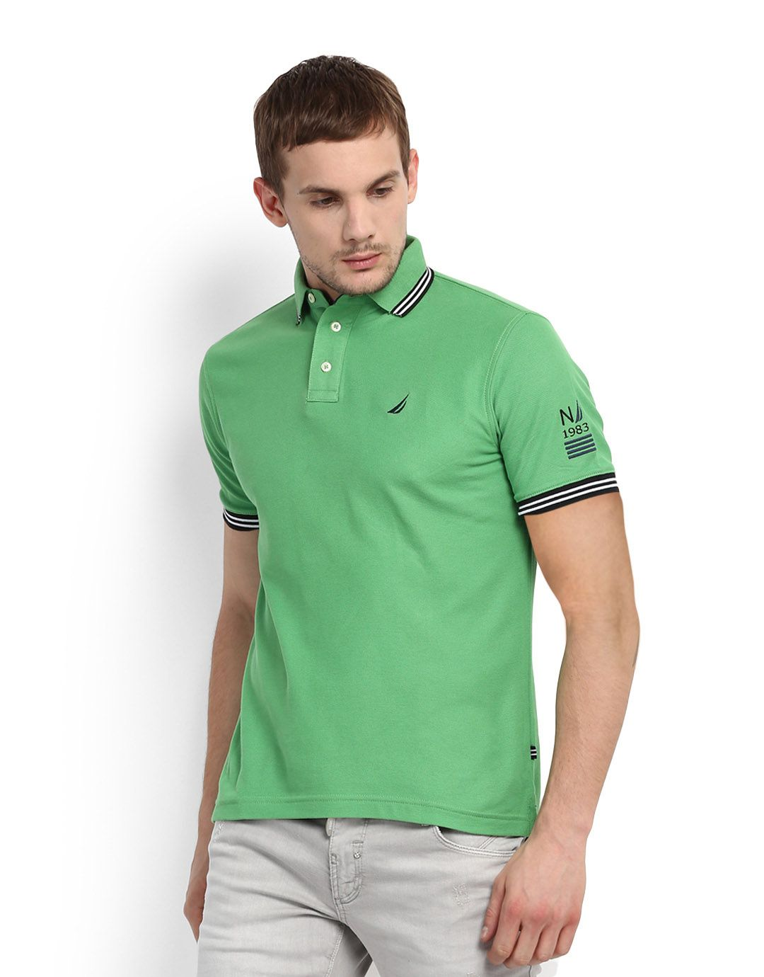 Nautica Green Polo T-Shirt