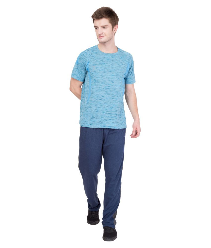 FINO Blue Cotton Lycra Trackpants Pack of 1