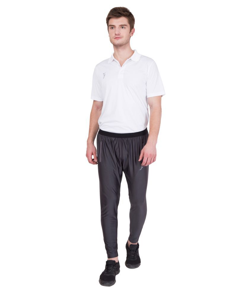 FINO Grey Polyester Trackpants Pack of 1