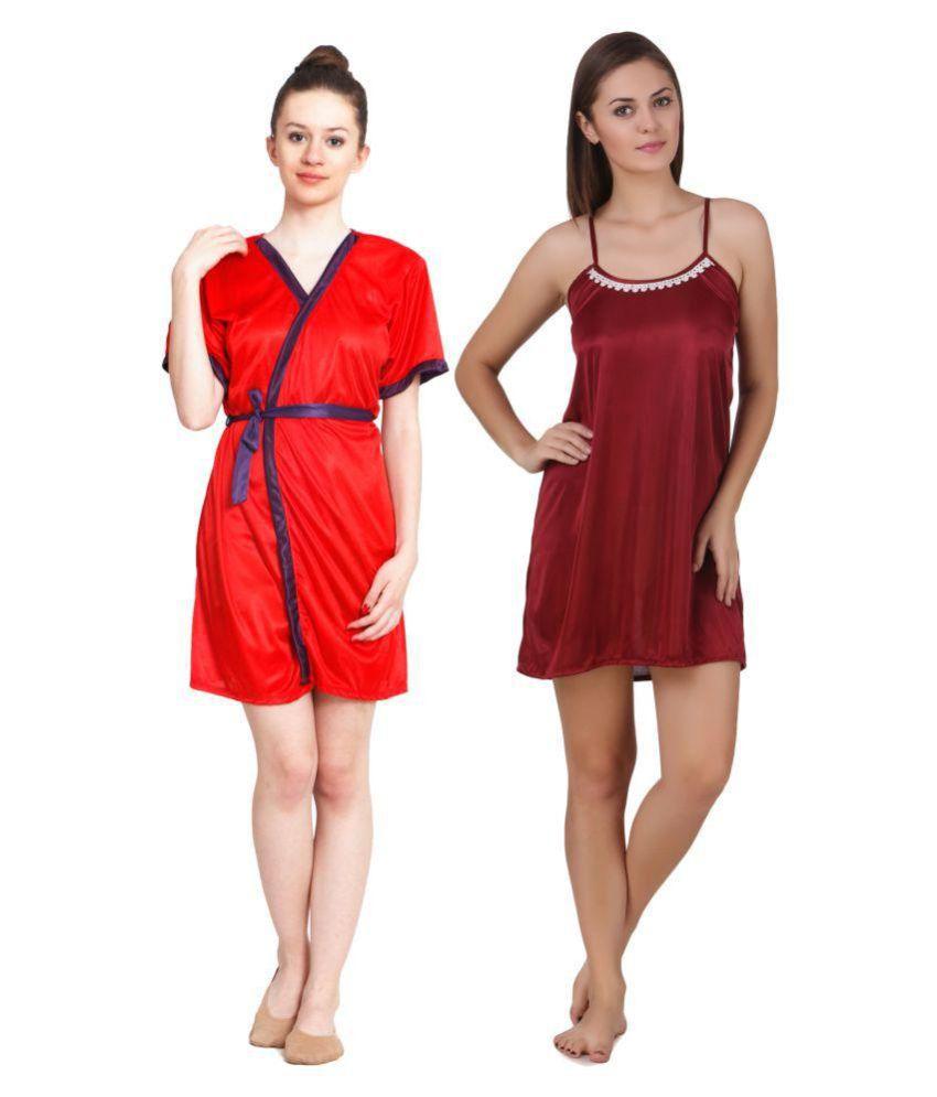 Freely Satin Nighty & Night Gowns