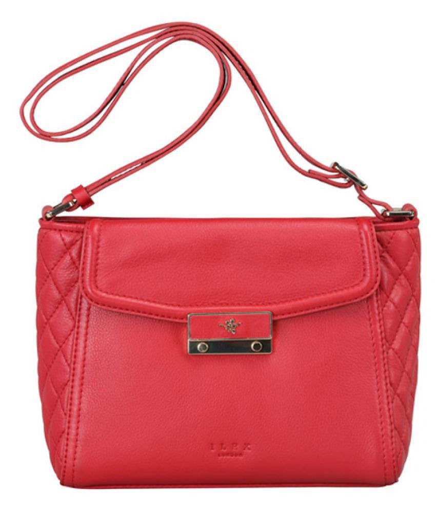 ILEX London Scarlet Pure Leather Sling Bag