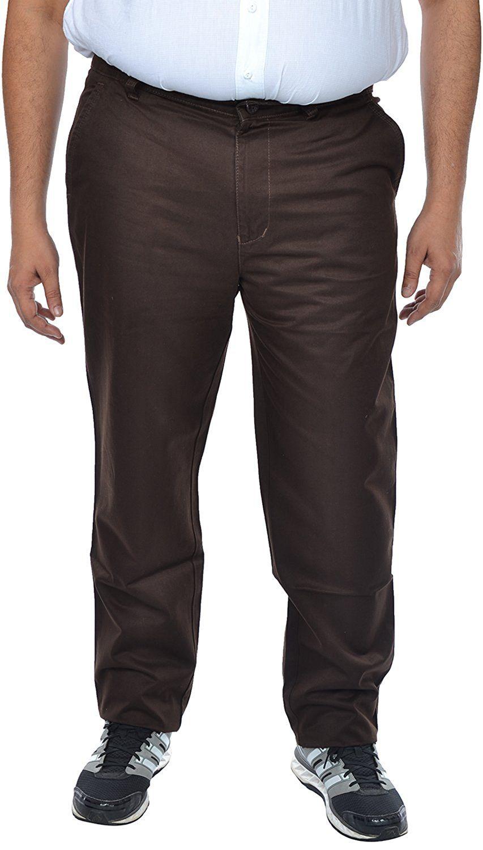saba Brown Regular -Fit Flat Chinos