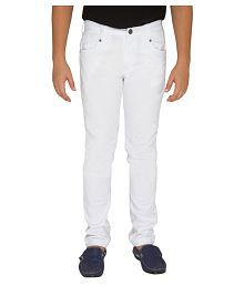 OVO Boys Solid White Jeans