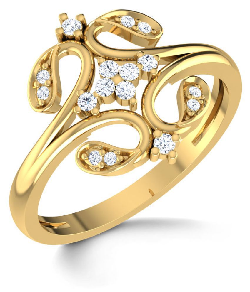 Amantran Gems And Jewels 14k Yellow Gold Ring