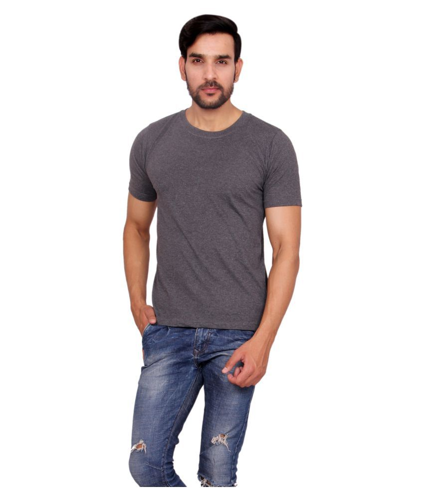 Anchy Grey Round T-Shirt