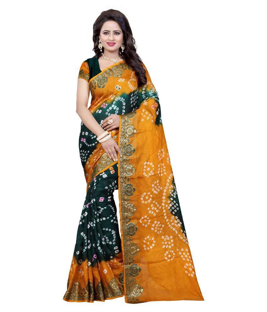 Indian Ethnic Multicoloured Cotton Silk Saree