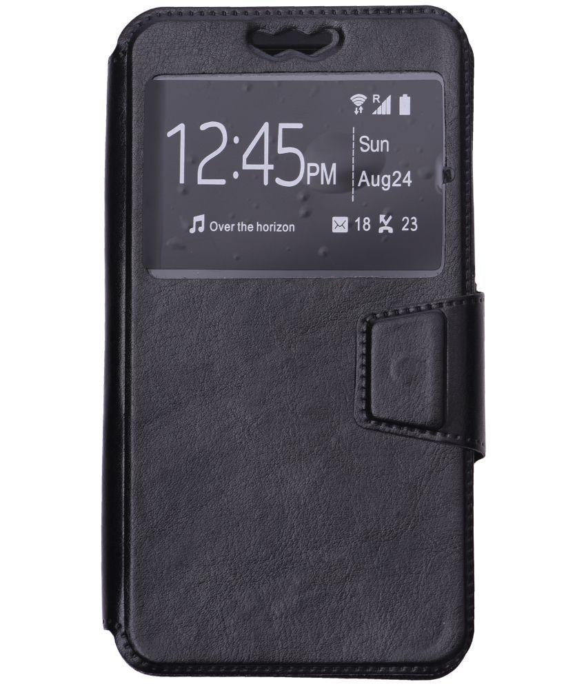 quality design 8cf4a 08cab MICROMAX CANVAS EVOK NOTE E453 Flip Cover by Shopme - Black